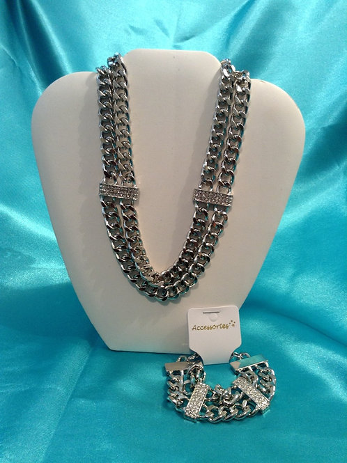 Double Chain with Rhinestones