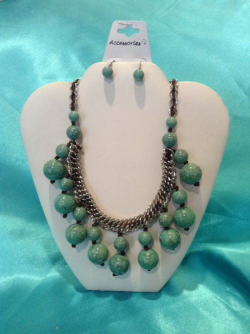 Turquoise Double Beads