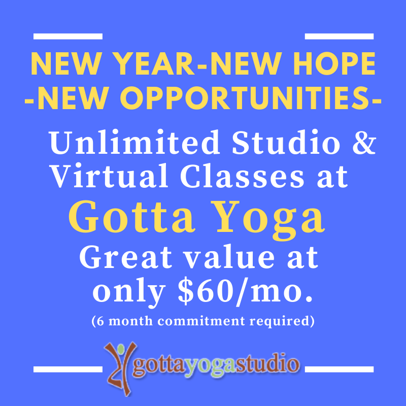 Gotta Yoga Membership Pricing