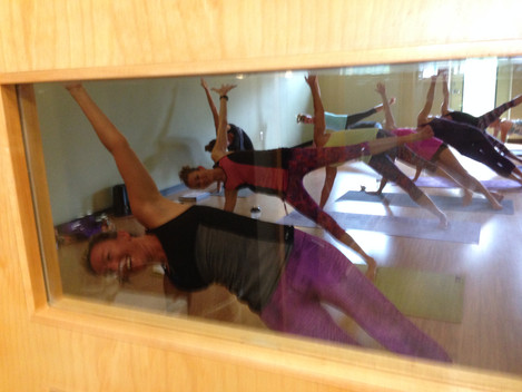 A view through the window at a Flow Class