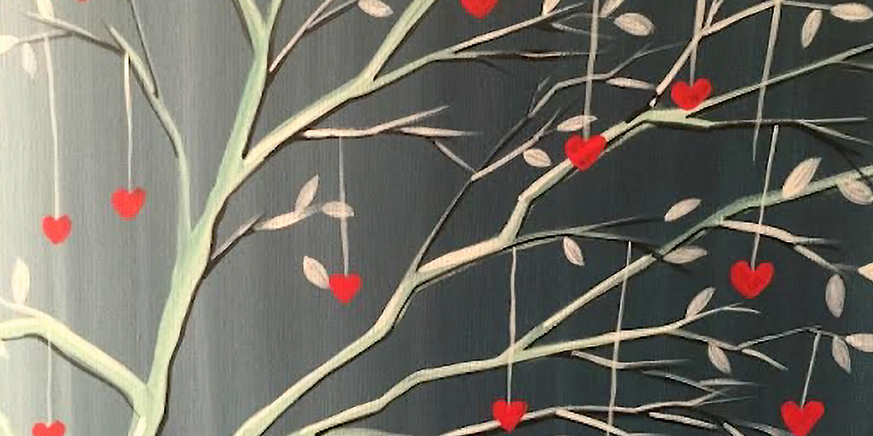 Hearts on a String Paint & Sip