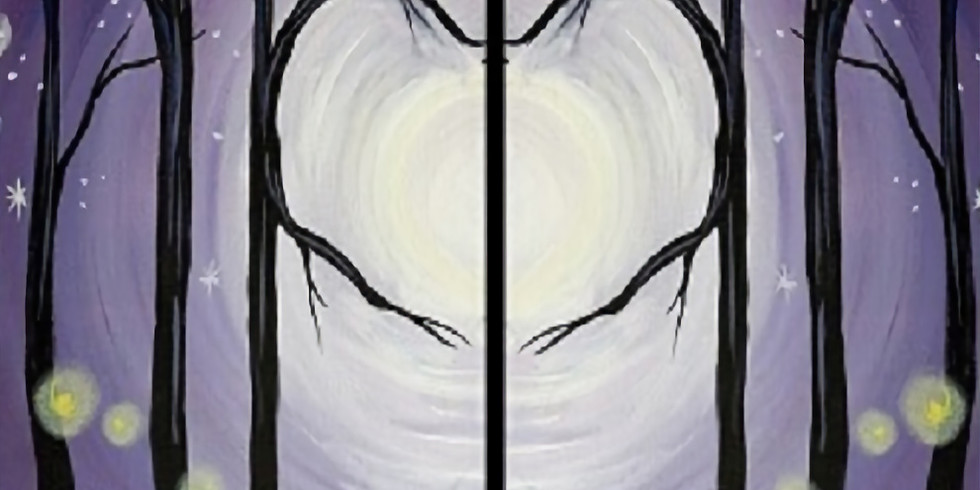 Trees In Love (Double Canvas)