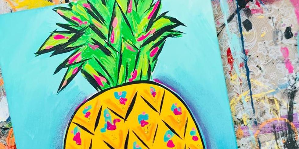 Free Pineapple Palooza Online Paint Party