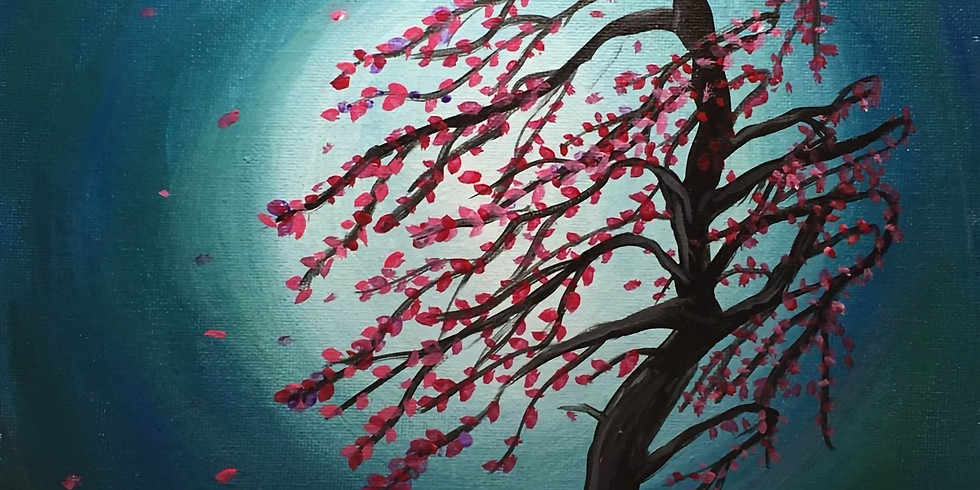 $10 Paint Night! Cherry Blossom in the Wind