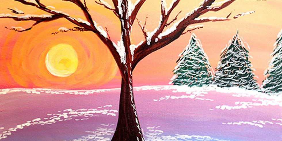 Winter Sunrise Paint & Sip