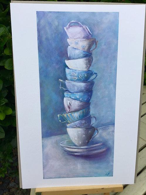 Teacups   Signed Fine Art Print