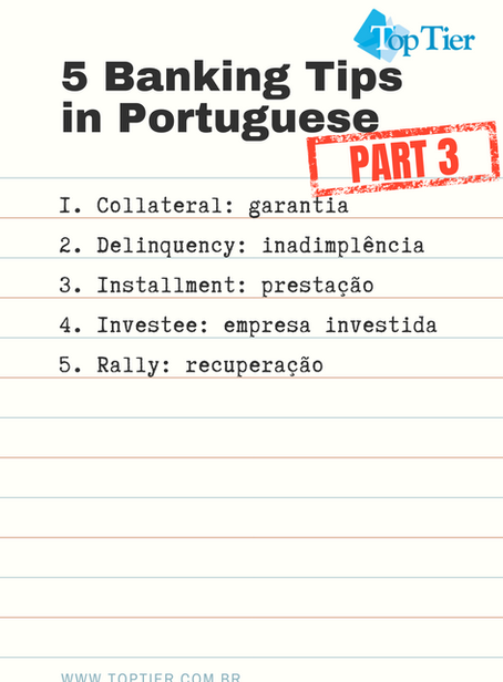 5 Banking Tips in Portuguese, Part 3