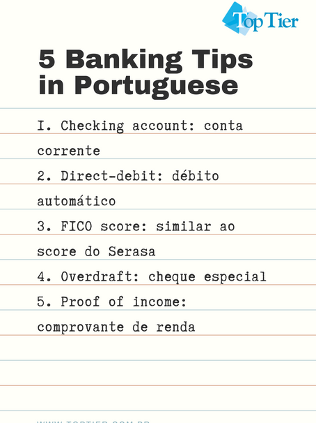5 Banking Tips in Portuguese