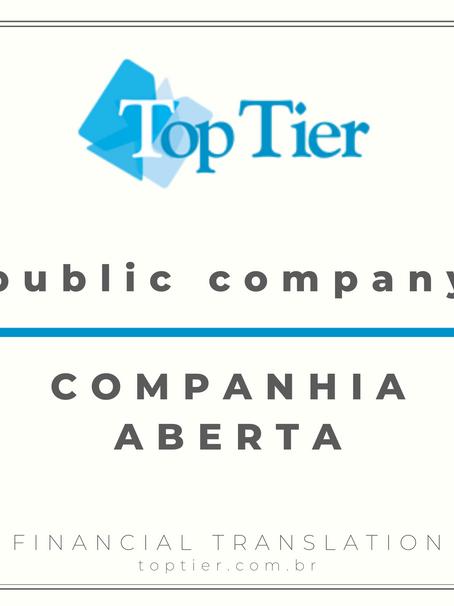 Public company vs. Companhia Pública [Portuguese]