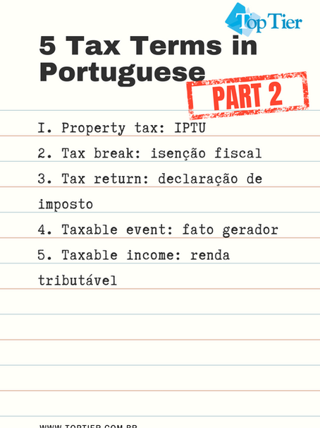 5 Tax Terms in Portuguese, Part 2