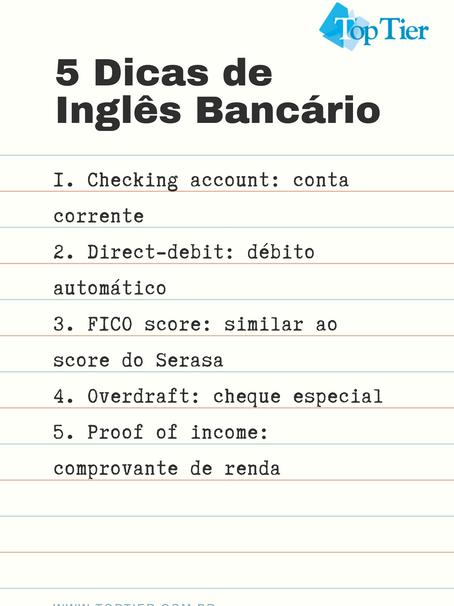 5 Dicas de Inglês Bancário