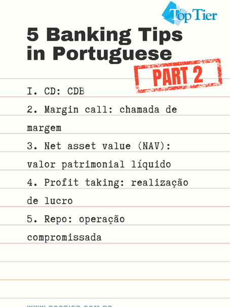 5 Banking Tips in Portuguese, Part 2