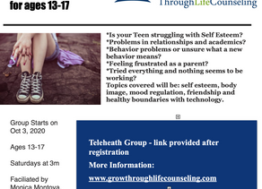Teen Support Group is back!