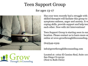Teen Support Group is back in Del Mar