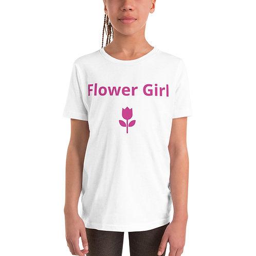 Flower Girl Youth Short Sleeve T-Shirt