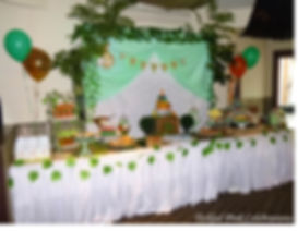 Jungle Safari Party table lolly buffet.j