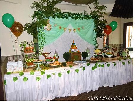Jungle Safari Party table lolly buffet.j