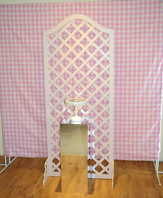 Pink backdrop with trellis stand.jpg