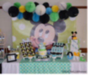 Baby Mickey Mouse 1st birthday party tab