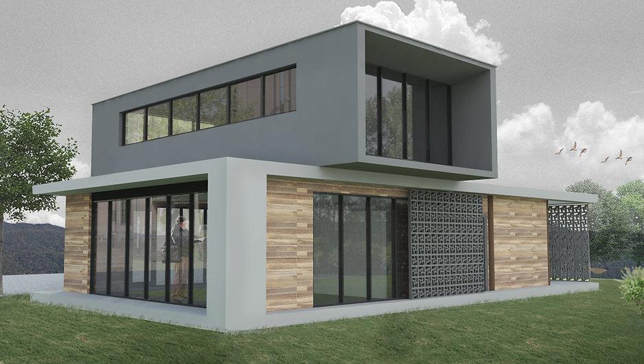 Edifício Administrativo - Fachada. Peters Studio - Arquitetura em Balneário Camboriú