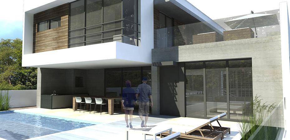 Projeto de Residência em Balneário Camboriú - Fachada Frontal. Peters Studio