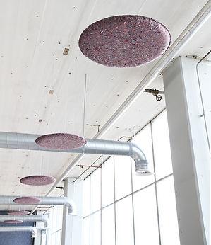 Akoestisc plafondpaneel C-serie Circulair duuraam Métisse