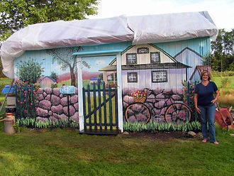 St-Thuribe *Murale sur remise de métal  - Peinture latex et vernis