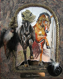 Les chevaux dansants - Technique mixte