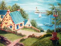 Un coin de Bretagne - Peinture à l'huile