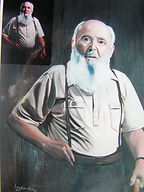 Mon grand père - Peinture à l'huile