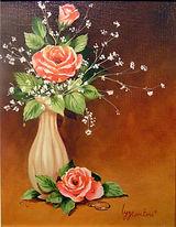 Fleurs coupées - Peinture à l'huile