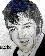 Elvis Presley - Dessin aux crayons grapites - Gagnant d'un premier prix