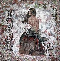Siréna - technique mixte, série silhouettes
