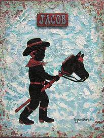 Jacob - Silhouette en technique mixte