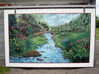 St-Tite *Murale porte de garage - Peinture latex et vernis