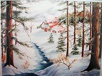 Isolé dans la montagne - Peinture à l'huile