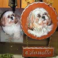 Plaque décorative - Peinture acrylique