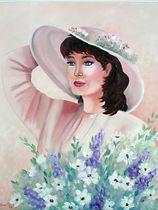Jolie Maggie - Peinture à l'huile
