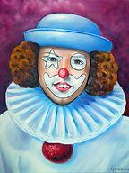 Petit clown Rémi - Peinture à l'huile