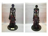 Bohémienne (statue faite avec du tissu 100% coton - Technique Paverpol