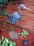 Grand Héron (statue faite avec du tissu 100% coton - Technique Paverpol