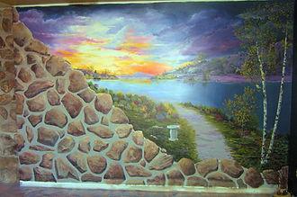 St-Urbain Premier *Murale plein mur 9'x 20' - Peinture latex