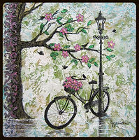 Flore-à-Vélo - Silhouette en technique mixte