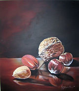 Les noix - Peinture à l'huile