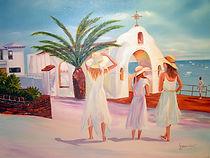 Promenade matinale - Peinture à l'huile