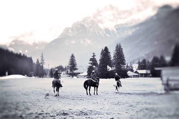 Horseback riding Dolomites