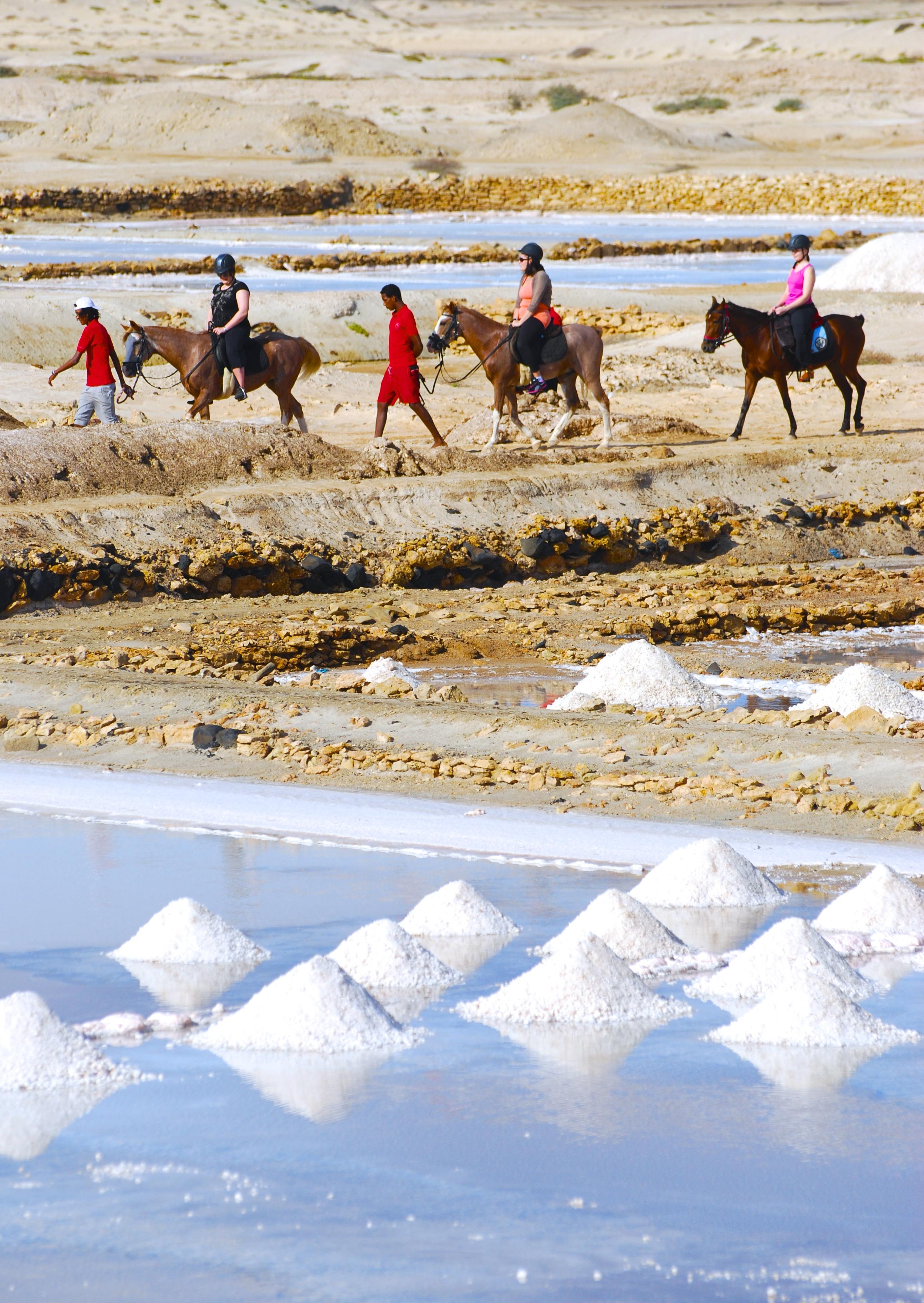 Riding at the Salt Flats