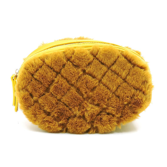Quilted Fur Fanny Pack