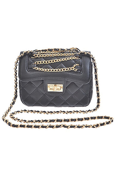 Extended Quilted Chain Crossbody