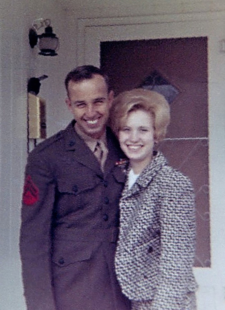 16 February 1968, Derl home with Marilyn after Vietnam..jpg